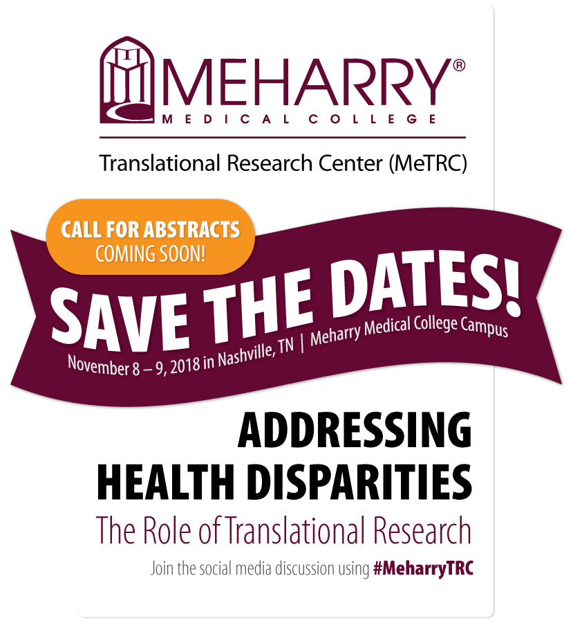 Save the Dates for the 2018 MeTRC Conference!  The Conference will convene November 8–9, 2018 in Nashville, TN.